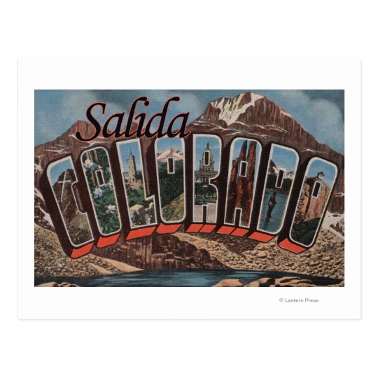 Salida, Colorado - Large Letter Scenes Postcard