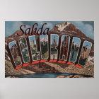 Salida, Colorado - Large Letter Scenes Poster