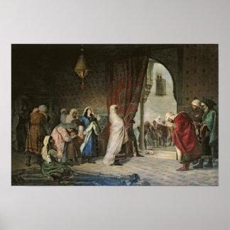 Salida del Boabdil, at the Alhambra Poster