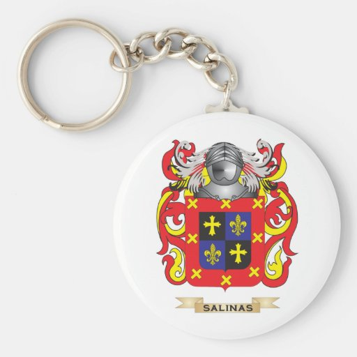 Salinas Coat of Arms (Family Crest) Keychains