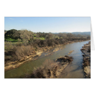 Salinas River from Vineyard Bridge, Templeton, CA Greeting Card