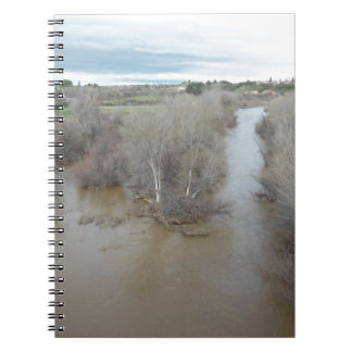 Salinas River North of Veterans Memorial Bridge Spiral Notebooks