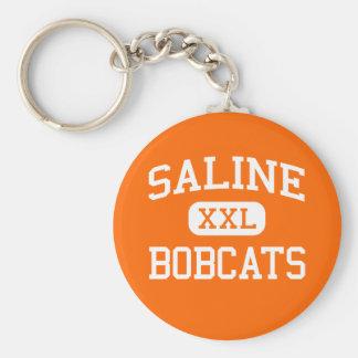 Saline - Bobcats - High School - Saline Louisiana Key Ring