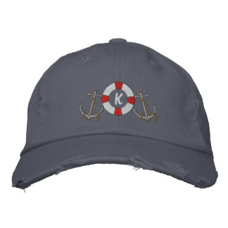 Saling Ring and Anchors Embroidered Cap