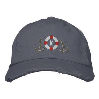 Saling Ring and Anchors Embroidered Baseball Cap
