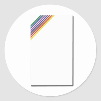 Salinger Stripe Classic Round Sticker