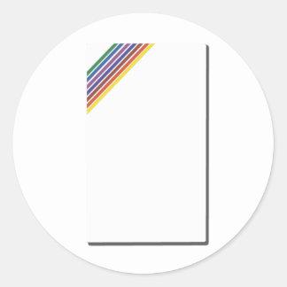 Salinger Stripe Round Sticker