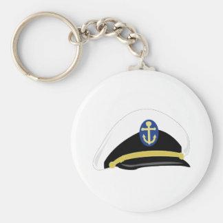 Salior Hat Basic Round Button Key Ring