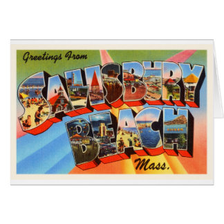 Salisbury Beach Massachusetts MA Travel Souvenir Card