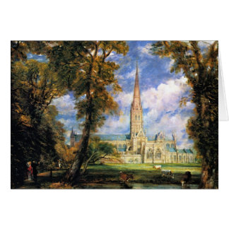 Salisbury Cathedral from the Bishop's Grounds Card