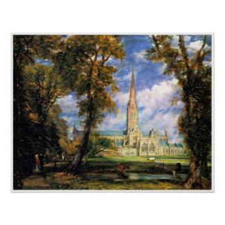 Salisbury Cathedral from the Bishops' Grounds Poster
