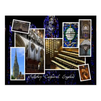 Salisbury Cathedral, UK - montage  postcard