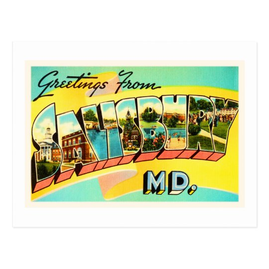 Salisbury Maryland MD Old Vintage Travel Postcard- Postcard