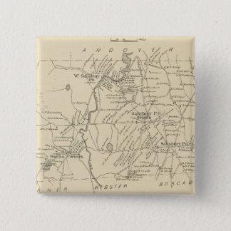 Salisbury, Merrimack Co 15 Cm Square Badge