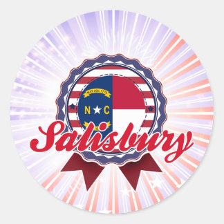Salisbury, NC Round Sticker