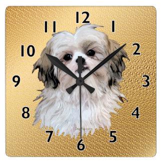 Sally Shih Tzu Square Wall Clock