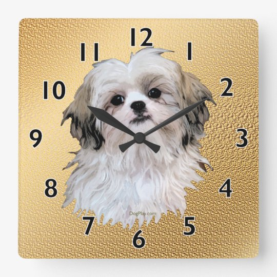 Sally Shih Tzu Wall Clocks