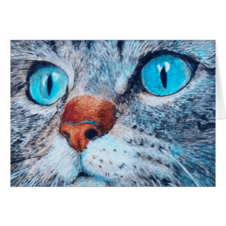 Sally the Blue Eyed Cat Note Card