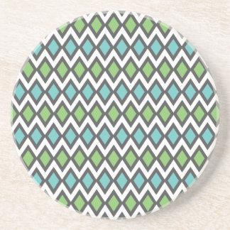 Salmiak Pattern custom coaster
