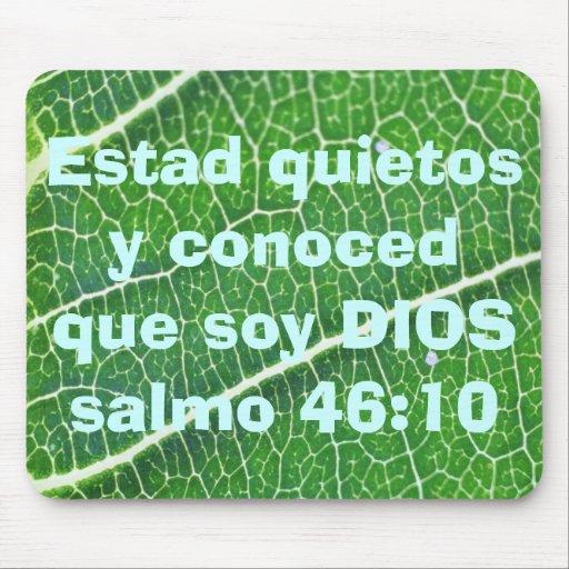 salmo 46:10 mousepad