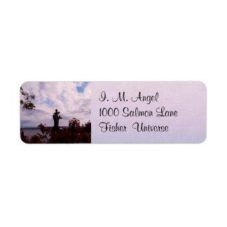 Salmon Angel Return Address Label
