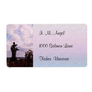 Salmon Angel Shipping Label