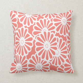 Salmon Asian Moods Floral Cushion