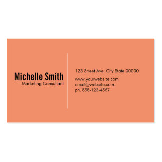 Salmon background with Divider Line Pack Of Standard Business Cards