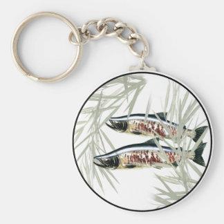 Salmon Basic Round Button Key Ring