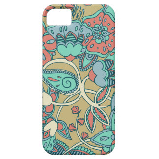 Salmon & Blue Floral Case For The iPhone 5