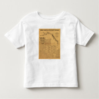 Salmon Canneries of the Pacific Northwest Map T Shirt
