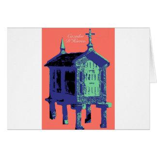 "Salmon ""Cazador D'Horreo"" of Bueu - pop art barn Card"
