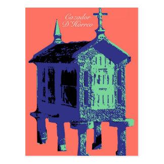 "Salmon ""Cazador D'Horreo"" of Bueu - pop art barn Postcard"
