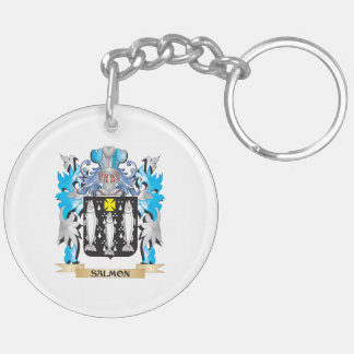 Salmon Coat of Arms - Family Crest Key Chain