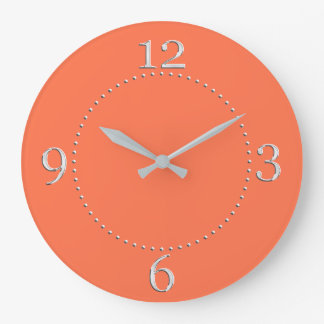 Salmon Coral Color Decor on a Wallclocks
