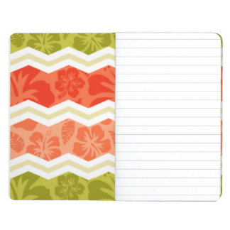 Salmon, Coral, Orange, and Green Tropical Pattern Journal