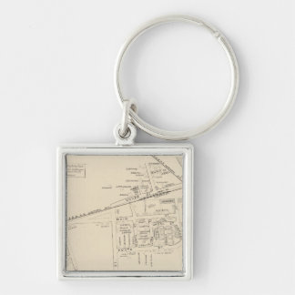 Salmon Falls PO Silver-Colored Square Key Ring
