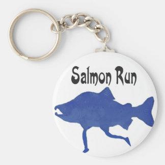 Salmon (FISH) Basic Round Button Key Ring