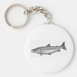 Salmon Fishing Keychain
