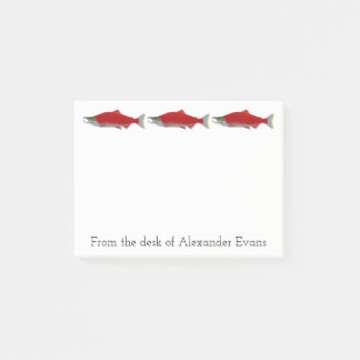 Salmon Fishing Post-it Notes