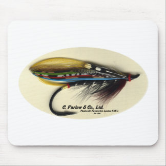 Salmon Fly- Black Doctor feather wing Mouse Pad