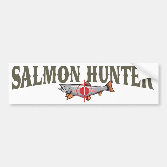 Salmon Hunter Bumper Sticker