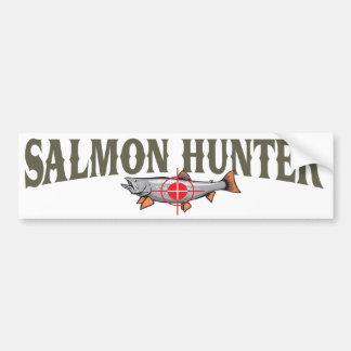Salmon Hunter Car Bumper Sticker