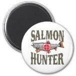 Salmon Hunter Fridge Magnets