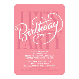 SALMON LET'S BIRTHDAY PARTY | INVITATION