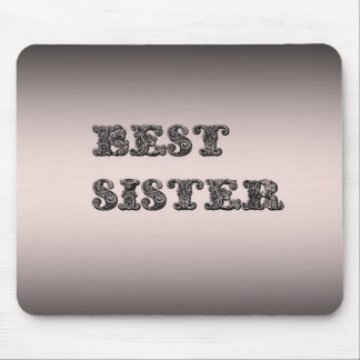Salmon metallic Best Sister Mouse Mat