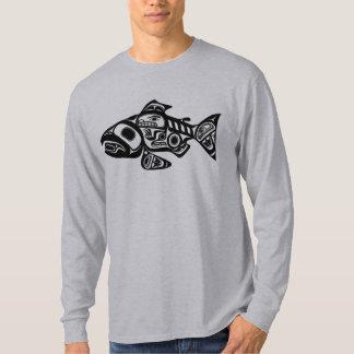 Salmon Native American Design T Shirts