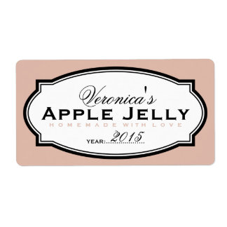 SALMON   PERSONALIZED CANNING STICKER SHIPPING LABEL