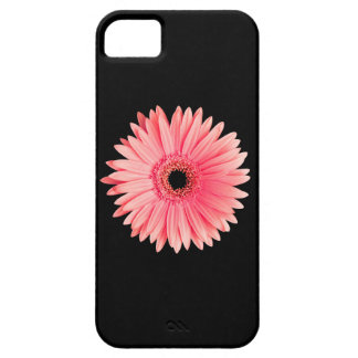 Salmon Pink Daisy on Black - Customized Daisies Barely There iPhone 5 Case