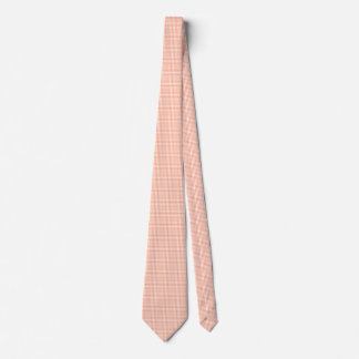 Salmon Pink Gingham Tie